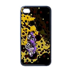 Violet Apple Iphone 4 Case (black)
