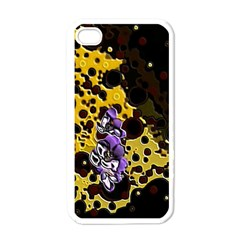 Violet Apple iPhone 4 Case (White)