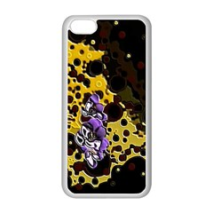 Violet Apple iPhone 5C Seamless Case (White)
