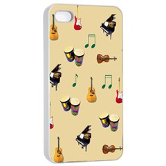Music Apple iPhone 4/4s Seamless Case (White)