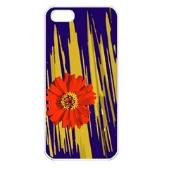 Red Flower Apple iPhone 5 Seamless Case (White)