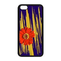 Red Flower Apple iPhone 5C Seamless Case (Black)