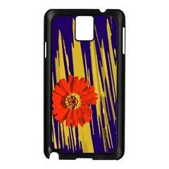 Red Flower Samsung Galaxy Note 3 N9005 Case (Black)