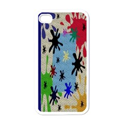 Paint Splatters Apple Iphone 4 Case (white)