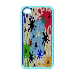 Paint Splatters Apple Iphone 4 Case (color)