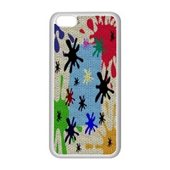 Paint Splatters Apple iPhone 5C Seamless Case (White)