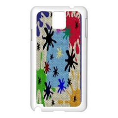 Paint Splatters Samsung Galaxy Note 3 N9005 Case (white)