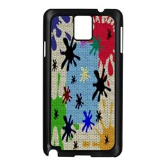 Paint Splatters Samsung Galaxy Note 3 N9005 Case (Black)