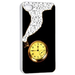 Time Flies Apple iPhone 4/4s Seamless Case (White)
