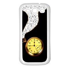 Time Flies Samsung Galaxy S3 Back Case (White)