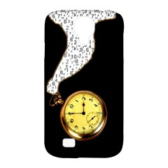 Time Flies Samsung Galaxy S4 Classic Hardshell Case (PC+Silicone)