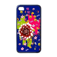Flower Bunch Apple iPhone 4 Case (Black)
