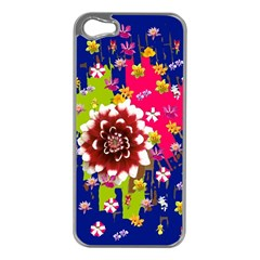 Flower Bunch Apple Iphone 5 Case (silver)