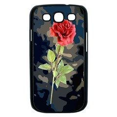 Long Stem Rose Samsung Galaxy S III Case (Black)