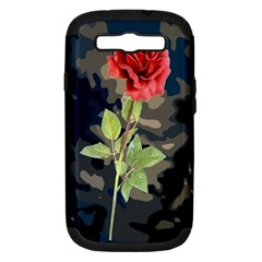 Long Stem Rose Samsung Galaxy S Iii Hardshell Case (pc+silicone)