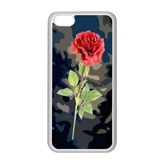 Long Stem Rose Apple iPhone 5C Seamless Case (White)