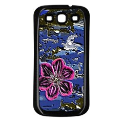 Flooded Flower Samsung Galaxy S3 Back Case (Black)