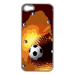 Soccer Apple iPhone 5 Case (Silver)
