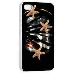 Star Fish Apple iPhone 4/4s Seamless Case (White)