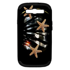 Star Fish Samsung Galaxy S III Hardshell Case (PC+Silicone)