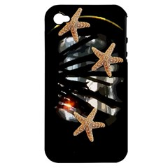 Star Fish Apple Iphone 4/4s Hardshell Case (pc+silicone)