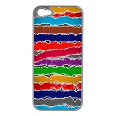 Striped Apple iPhone 5 Case (Silver)