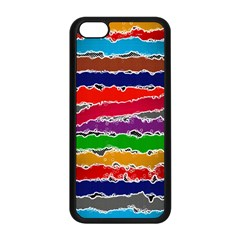 Striped Apple Iphone 5c Seamless Case (black)