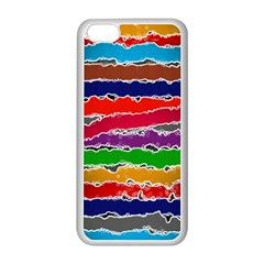 Striped Apple iPhone 5C Seamless Case (White)