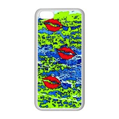 kisses Apple iPhone 5C Seamless Case (White)