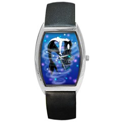 Orca Symphony By Caterina Bassano Tonneau Leather Watch