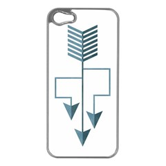 Arrow Paths Apple Iphone 5 Case (silver)
