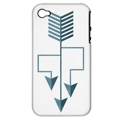 Arrow Paths Apple Iphone 4/4s Hardshell Case (pc+silicone)