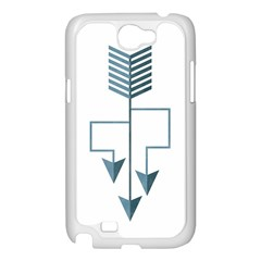 Arrow Paths Samsung Galaxy Note 2 Case (White)