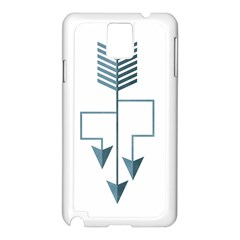 Arrow Paths Samsung Galaxy Note 3 N9005 Case (White)