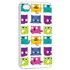 Cats Apple Iphone 4/4s Seamless Case (white)