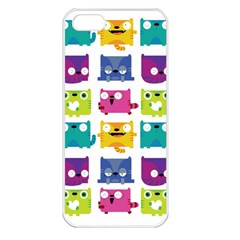 Cats Apple Iphone 5 Seamless Case (white)