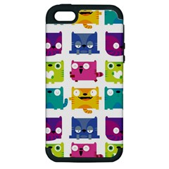 Cats Apple Iphone 5 Hardshell Case (pc+silicone)