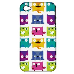 Cats Apple Iphone 4/4s Hardshell Case (pc+silicone)