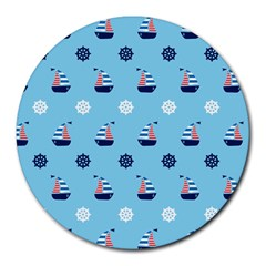 Summer Sailing 8  Mouse Pad (Round)