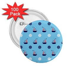 Summer Sailing 2 25  Button (100 Pack)