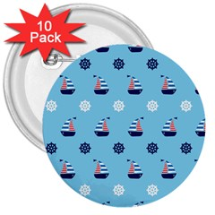 Summer Sailing 3  Button (10 pack)