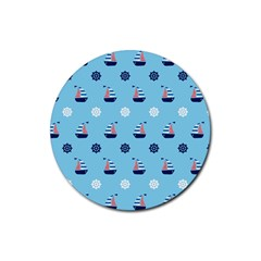 Summer Sailing Drink Coaster (Round)