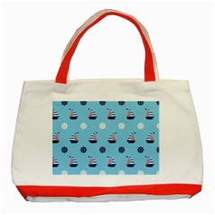 Summer Sailing Classic Tote Bag (Red)