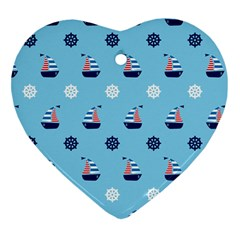 Summer Sailing Heart Ornament (Two Sides)