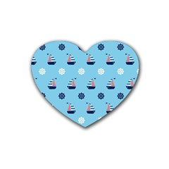 Summer Sailing Drink Coasters (Heart)
