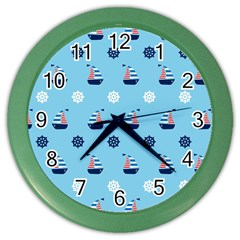 Summer Sailing Wall Clock (Color)