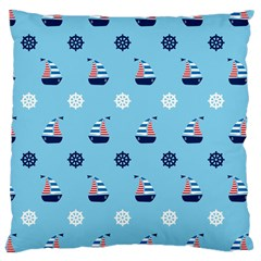 Summer Sailing Large Cushion Case (two Sided)