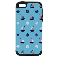 Summer Sailing Apple Iphone 5 Hardshell Case (pc+silicone)