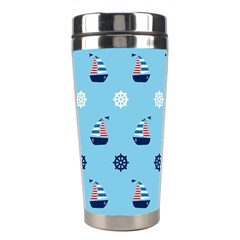 Summer Sailing Stainless Steel Travel Tumbler