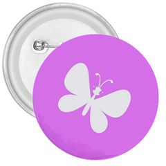 Butterfly 3  Button